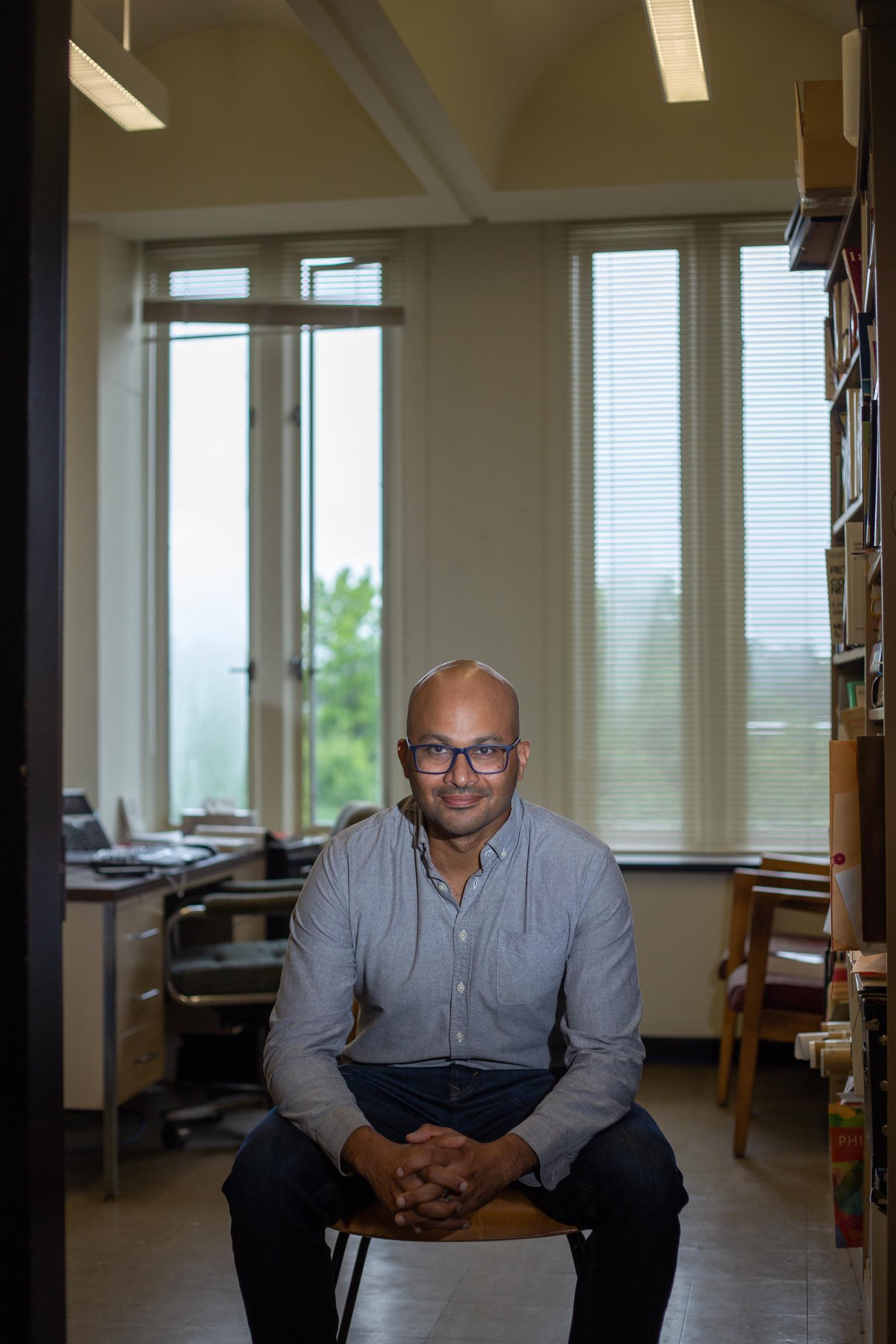 August 19, 2021 - Portrait of Jason d'Cruz, professor of Philosophy